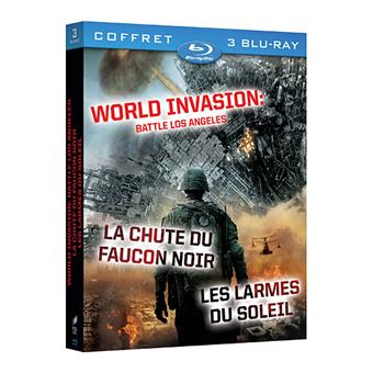 World invasion : Battle Los Angeles - La Chute du faucon noir - Les Larmes du soleil - Coffret Blu-Ray