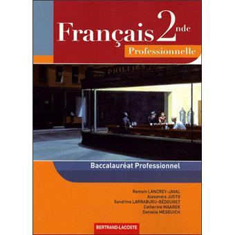Francais Seconde Seconde Professionnelle