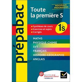 Prepabac Tout En Un 1re S Toutes Les Matieres De La Premiere S Broche Denis Girard Jean Dominique Picchiottino Joel Carrasco Achat Livre Fnac
