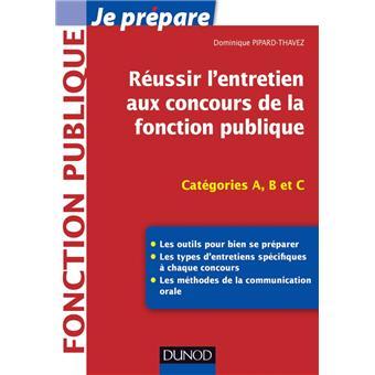 Reussir L Entretien Aux Concours De La Fonction Publique 2018 2019