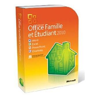 Microsoft office famille et tudiant 2010 3 pc dvd rom - Office famille et etudiant 2010 gratuit ...