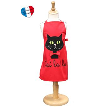 Alma Mater - Coffret Tablier Enfant + Toque - Chat la! la! - Rouge ...