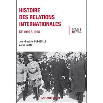 Histoire des relations internationales de 1919 à 1945