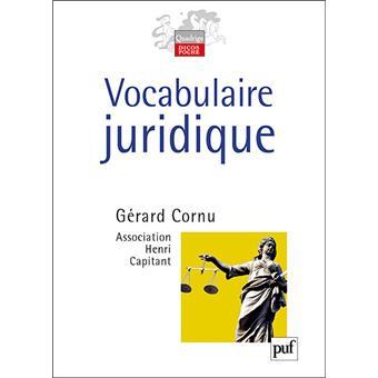 DICTIONNAIRE JURIDIQUE CORNU EBOOK