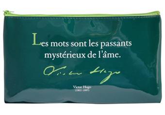 Trousse Vinyl Rectangle Verte Citation Les Mots Victor Hugo