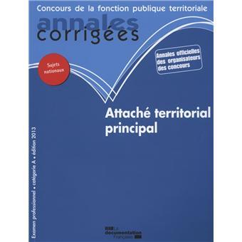 Concours d 39 attach territorial principal examen corrig s - Grille indiciaire attache territorial principal ...