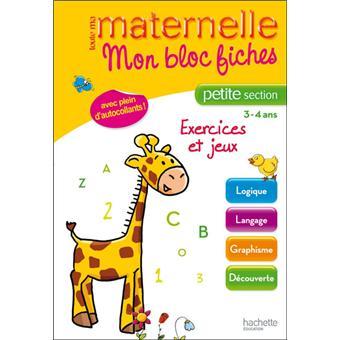 Mon bloc maternelle petite section broch collectif - Livre maternelle gratuit ...