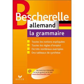 bescherelle allemand la grammaire ouvrage de r f rence sur la grammaire allemande cartonn. Black Bedroom Furniture Sets. Home Design Ideas