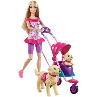 fresh styles factory authentic new design Mattel Barbie balade ses chiens