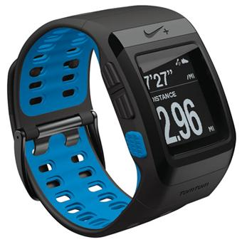 gps tomtom montre nike sportwatch blue glow montre. Black Bedroom Furniture Sets. Home Design Ideas