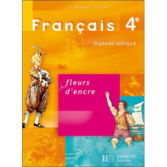 Fleurs D Encre 4e Francais Livre De L Eleve