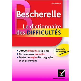 dictionnaire des difficultes de la langue francaise