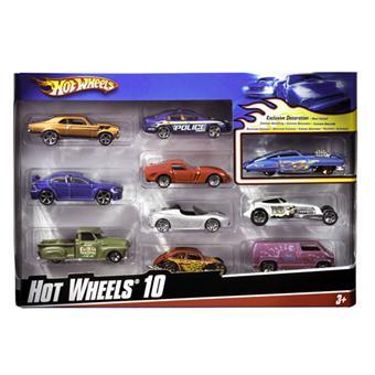 mattel hot wheels coffret 10 voitures - Voitures Hot Wheels