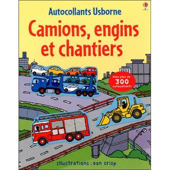 Camions, engins et chantiers - Autocollants Usborne