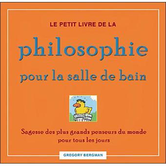 Petit livre de la philosophie pour la salle de bain - Produit contre la moisissure salle de bain ...