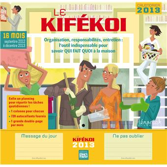 calendrier 2013 kifekoi broch collectif achat livre fnac. Black Bedroom Furniture Sets. Home Design Ideas