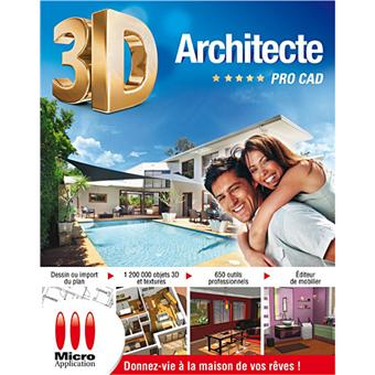 3d architecte pro cad 14 dvd rom achat prix fnac for Architecte 3d video