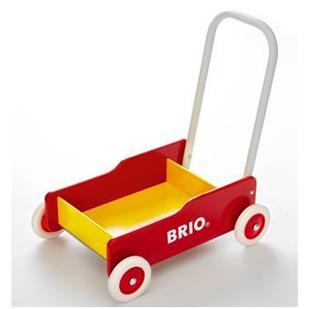Brio Chariot de marche Rouge et Jaune (avec frein)