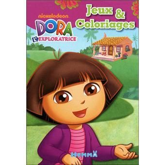 Dora Lexploratrice Jeux Et Coloriages Avec Autocollants