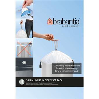 brabantia 375705 sacs poubelle 40 50 litres blanc. Black Bedroom Furniture Sets. Home Design Ideas