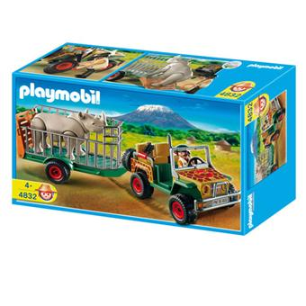 playmobil 4832 v hicule de safari avec rhinoc ros. Black Bedroom Furniture Sets. Home Design Ideas