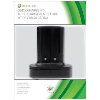 Kit de charge rapide noir Microsoft pour xbox 360