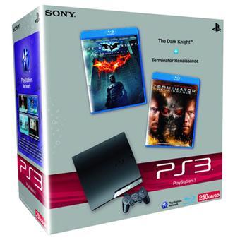Console PS3 Slim 250 Go Sony + Blu-Ray Batman : Dark Knight +