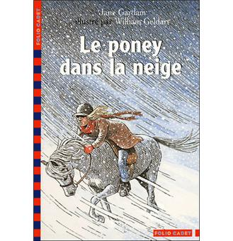 Le poney dans la neige