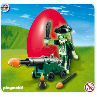 Playmobil 4928 oeuf de p ques pirate fant me avec canon - Pirate fantome ...