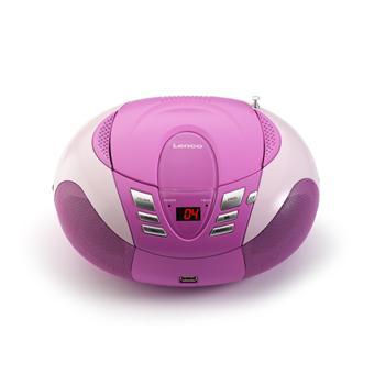lenco scd 37 usb rose radiocassette cd st r o achat prix fnac. Black Bedroom Furniture Sets. Home Design Ideas