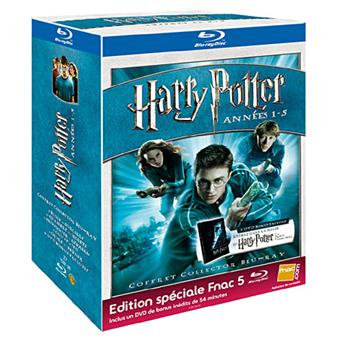 harry potter coffret harry potter blu ray edition sp ciale fnac les 5 films coffret dvd. Black Bedroom Furniture Sets. Home Design Ideas