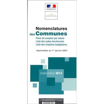 nomenclatures des communes instruction m14 broch collectif achat livre fnac