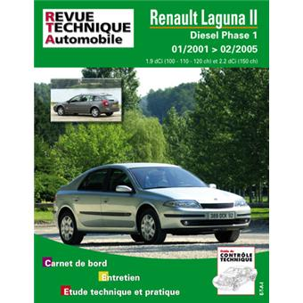 revue technique automobile 653 2 renault laguna 2 diesel depuis 01 01 broch etai achat. Black Bedroom Furniture Sets. Home Design Ideas