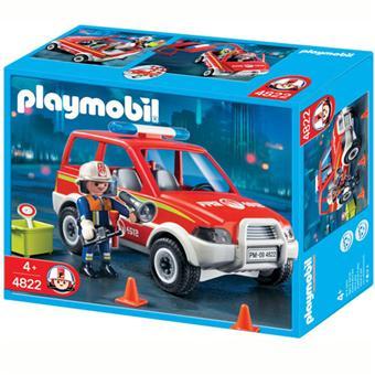 playmobil 4822 voiture de pompier - Playmobil Pompier