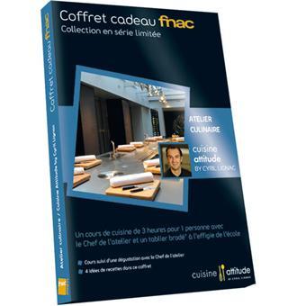 coffret cadeau fnac atelier adulte cuisine attitude cyril lignac coffrets cadeaux achat. Black Bedroom Furniture Sets. Home Design Ideas