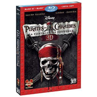 Pirate Des CaraïbesPirates des Caraïbes 4 - La fontaine de jouvence - Blu-Ray - Versions 2D et 3D