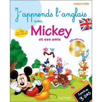 Super J'apprends l'anglais avec Mickey Maternelle Livre avec un CD audio  IA36