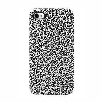Case Scenario Coque Keith Haring pour iPhone 4 & 4S - Graffiti Print Black