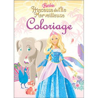 Barbie coloriage barbie princesse de l 39 le - Barbie en princesse ...