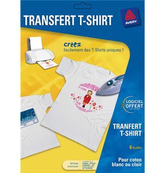 Avery transferts T-Shirts - Papier pour imprimante