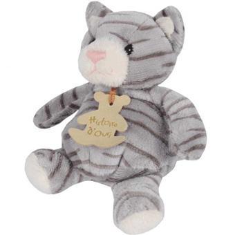 Histoire d\'Ours Peluche Chat boule tigré 14 cm - Animal en peluche ...