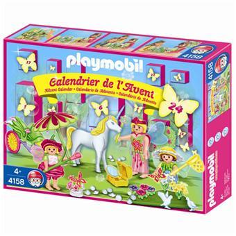 Calendrier L Avent Playmobil.Playmobil 4158 Calendrier De L Avent Licorne Au Pays Des Fees