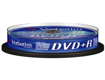 Verbatim DVD+R 4,7 Go x 10