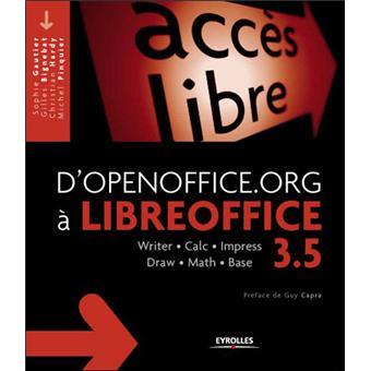 D'openoffice org a libreoffice 3 5  writer, calc, impress