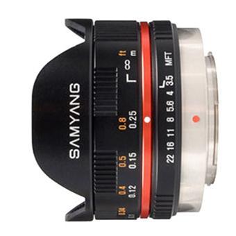 Samyang Fish-eye 7,5 mm f/3.5 UMC MFT Noir, Monture Micro 4:3