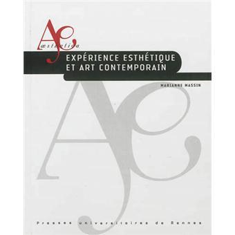 Exp rience esth tique et art contemporain broch for Art contemporain livre