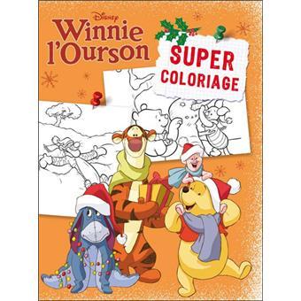 Winnie L Ourson Coloriage Noel