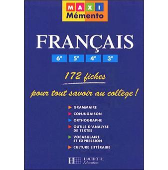 Maxi Memento Francais 6e 5e 4e 3e