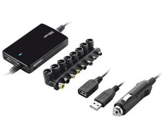 Trust Ultraslim Notebook Power Adapter 70W - Car - netspanningsadapter - wagen - 70 Watt