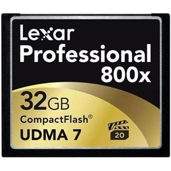 carte compact flash 32 go Lexar Professional Carte mémoire CompactFlash 32 Go 800x   UDMA7